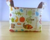 Small Fabric Storage Bin Basket ~ Happy Harvest by Riley Blake