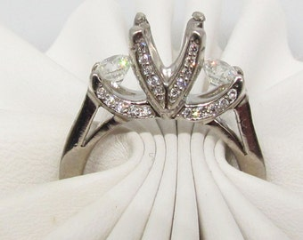 Platinum and diamond engagement ring by Verragio