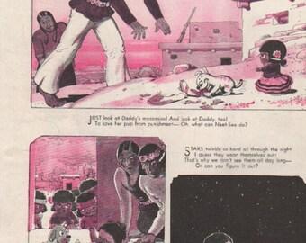 "Original Good Housekeeping cartoon ""Canyon Kiddies"" by James Swinnerton 1930s, 8x11 in. - Kids 695"