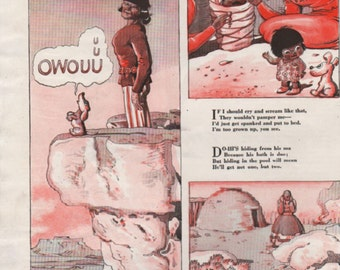 "Original Good Housekeeping cartoon ""Canyon Kiddies"" by James Swinnerton 1930s, 8x11 in. - Kids 715"