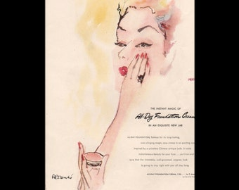 Vogue magazine ad for Elizabeth Arden All-Day Foundation Cream, matted - Beauty0279