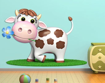Wall decals cow A439 - Stickers vache A439