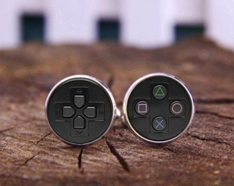 Video Game Controller Cufflinks & Tie Tacks, Gamering Cufflink, Personalized Cuff links, Game Controller Cufflinks For Men, Custom Cufflinks