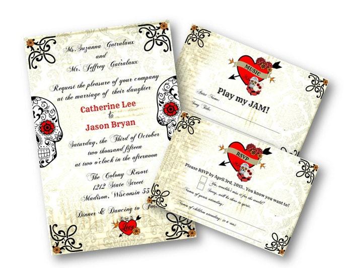 sugar skull wedding invitations - 28 images - the world s catalog of ...