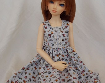 Blue floral summer dress for MSD Minifee/Unoa