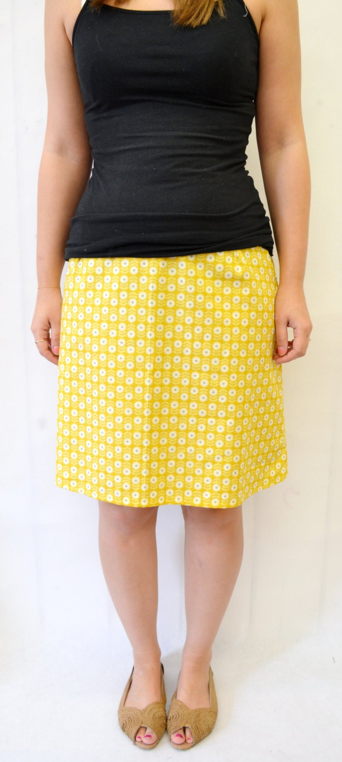 simple a line skirt sewing pattern by owlandsewingcat on etsy