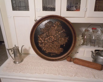 191 - Vintage  -Coppercraft -Wall Decor- Black & Copper