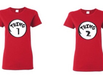 Ladies Halloween Costume~ Reading day shirt for teachers~ Thing 1-15 ladies shirt~ funny thing shirts
