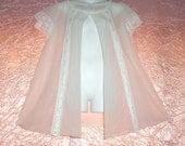 Peignoir Vintage mousseline de soie neige pure Double Nylon Miss Elaine dentelle peluches Adult Baby Doll Robe Sissy usure comme chemise de nuit 38 M/m » buste