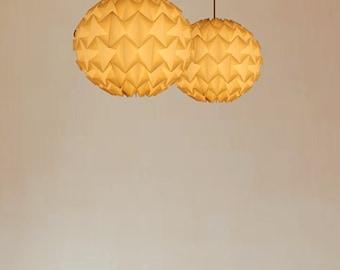 Origami Paper lampshade: La Bomba the smaller version ø 35 cm beige