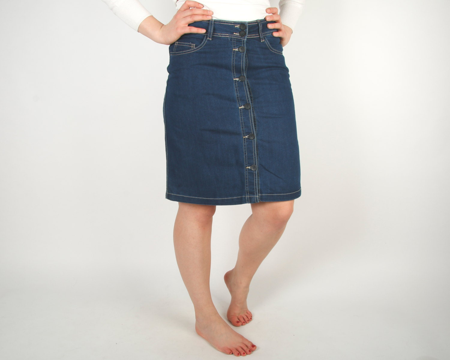 blue denim skirts country western by ancientgoodies