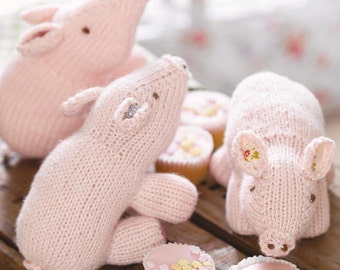 Three Little Pigs Toy Knitting Pattern Download (803753)