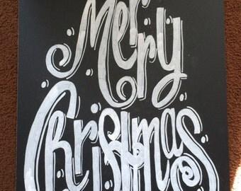 Merry Christmas Chalkboard Sign