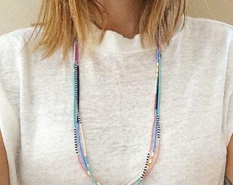 Colorful Beaded Necklace - Wrap Bracelet - Neaptide