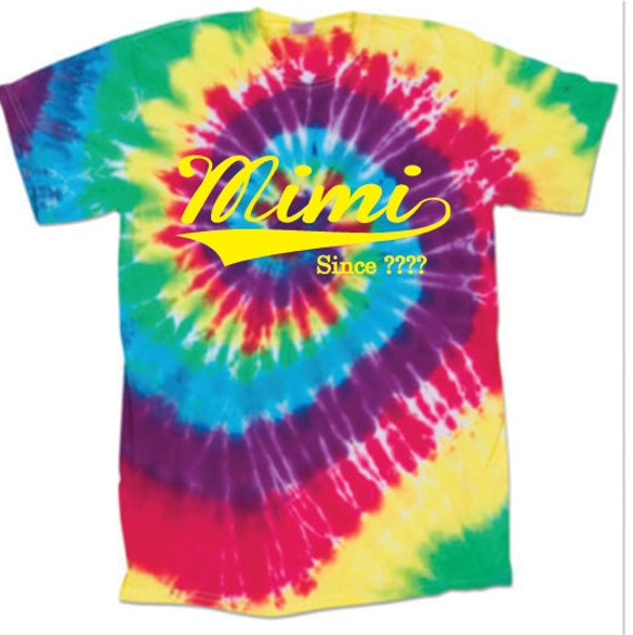 Funny t shirt custom t shirt tie dye mimi since for Custom t shirts tie dye