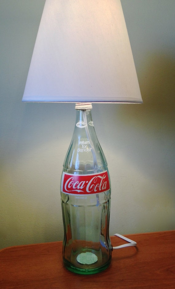Vintage Coca Cola Bottle Table Lamp Light Small By Lampsbylamp