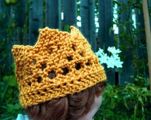 Knitted Crown, infant through adult sizes available, made to order