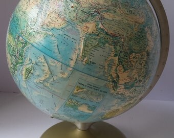 Vintage Rand McNally World Portrait Globe