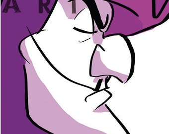 CAPTAIN HOOK - 4x6 Print - Character Profile Series - Villain Set