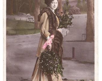 "French vintage postcard ""Bonne Année"""", ± 1900"