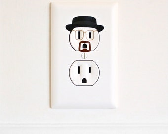 Heisenberg - Breaking Bad - Electric Outlet Wall Art Sticker Decal