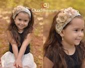 Vintage Headband, Flower Headband, Valentines Headband, Girls headband, Baby headband, Pink Flower Headband, Toddler Headband, Photo Prop