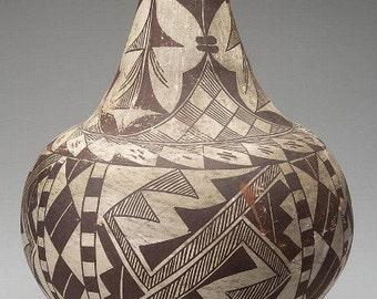 Pottery Jar : Native American Acoma Pottery Jar #30