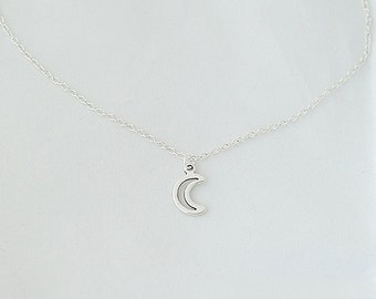 Delicate Necklace, Moon Necklace