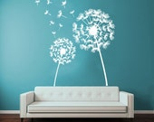 Custom Dandelion 12''T*13''W Wall Decals Flower Blossom Flowering Art Mural Vinyl Decal Sticker Kids Living Room Interior Design Decor KG729