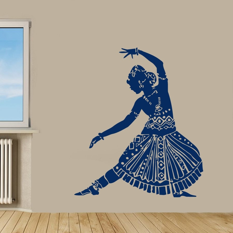 4''x6'' Indian Woman Wall Decals Belly Dance by ...