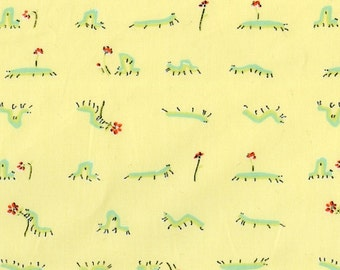 Heather Ross - Munki Munki Fabric - Inchworm - OOP Out Of Print - Very Hard To Find