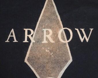 Arrow TV Show Custom Bleached Shirt