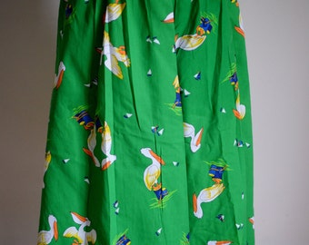 Charming Green Pelican Skirt