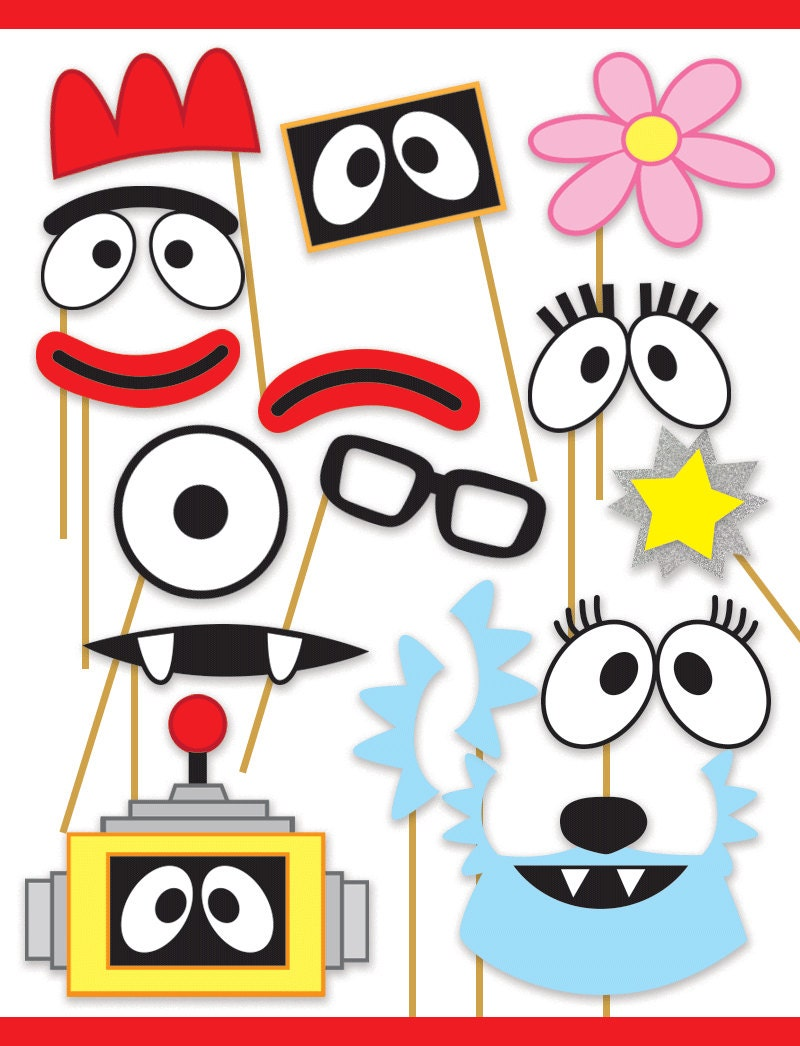 yo gabba gabba inspired printable photo booth props muno