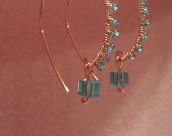 Gorgeous Wire wrapped Dangle Earrings