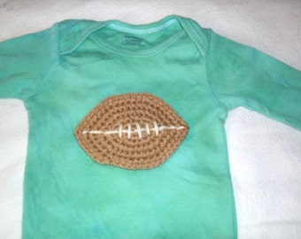 Baby Football Bodysuit, custom bodysuit with football applique, Football Baby, Sports Baby, Boy Baby Gift, Sports One Piece, Newborn Sports