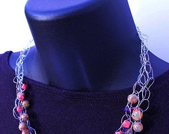 Feminine Vintage Beads Necklace