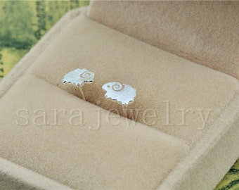 Silver Sheep Earrings,Pairs Stud Earrings,925 Silver Women Jewelry,Lovely Earrings,bride's Wedding Gifts
