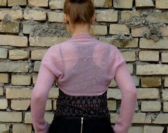 Summer sale! 30% off! Pink Wedding bolero Wedding shrug evening sweater warm Bridal Bolero Wedding Shrugs boleros size  XS / S ,  natural
