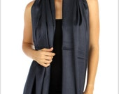 Navy Blue Pashmina Scarf -  Bridesmaid's gifts - Bridesmaid's scarf - party favors - navy blue wedding shawl - navy blue cover ups