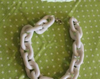 White plastic chain bracelet