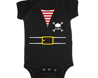 Pirate Baby Boy Or Girl Outfit Costume Bodysuit (PIR1-SSO)
