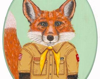 Boy Scout giclee art print 11x14