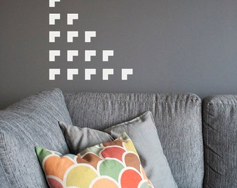 Corner wall decal 48 stickers.