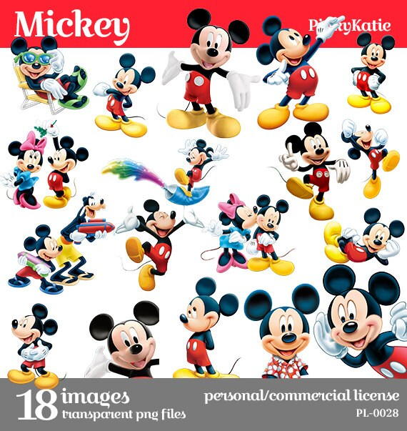 Spring sale mickey mouse instant download clipart digital png files pl