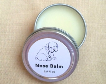 Dog Nose Balm (Organic) -- All Natural, Safe, Effective // Pug, Boxer, and All Breeds