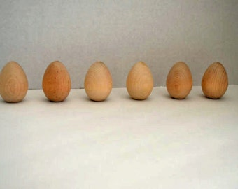 Unfinished Wooden Eggs