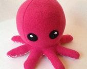 Cuddly Fleece Octopus Plush - Dark Pink