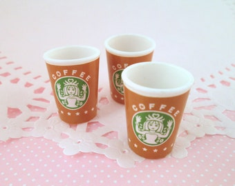 Miniature Starbucks Coffee Cup Cabochons