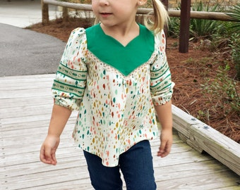 Wanderer Tunic PDF Sewing Pattern ... Sizes 2T-14yrs